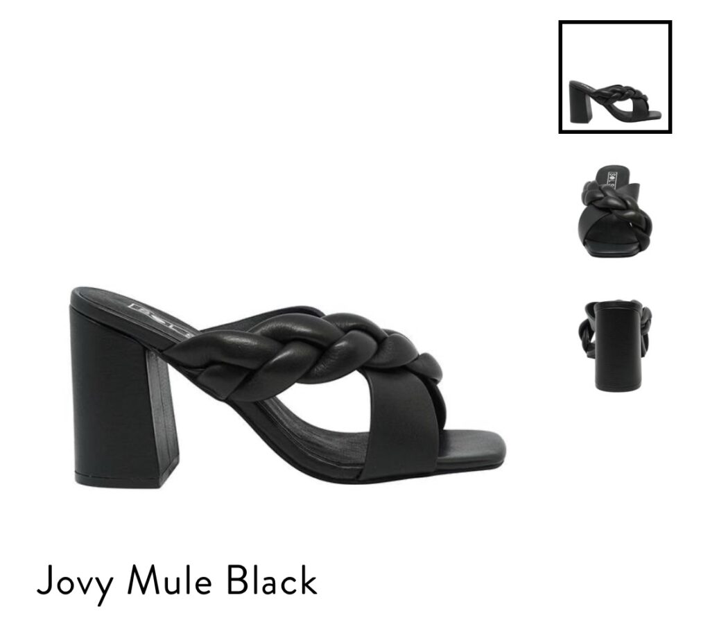 Sol Sana Shoes Jovy Mule Black , Black Square Toe Heels, Square Toe Mules, Braided Square Toe Mules, Black Mule